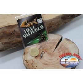 1 Beutel mit 5 stk. der wirbel Heli Swivel Lbs 110 Carpes FC.G100