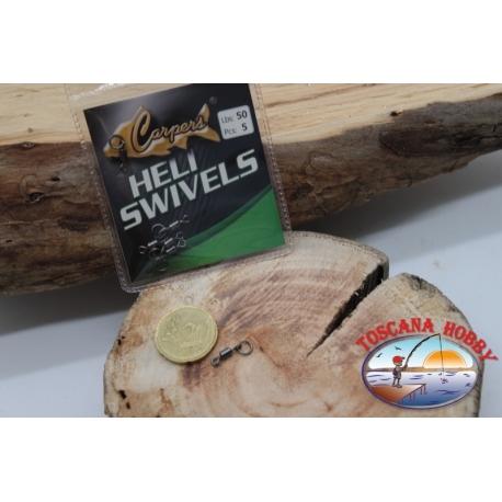 1 Beutel mit 5 stk. der wirbel Heli Swivel Lbs 50 FC.G103