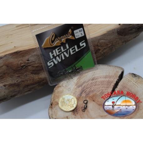 1 Beutel mit 5 stk. der wirbel Heli Swivel Lbs 60 FC.G104