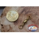 1 Bustina da 6 pz. di girelle Mustad serie 77502 gold sz.1 FC.G105