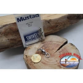 1 Packet of 2 pcs. of swivels Mustad series 77558 sz.8 FC.G111