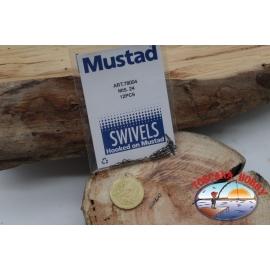 1 sachet de 12 pcs. des émerillons Mustad série 78004 sz.24 FC.G116
