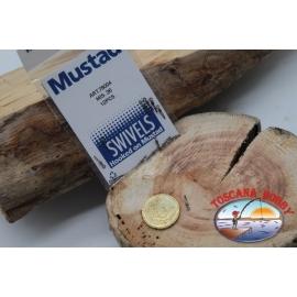 1 sachet de 12 pcs. des émerillons Mustad série 78004 sz.26 FC.G117