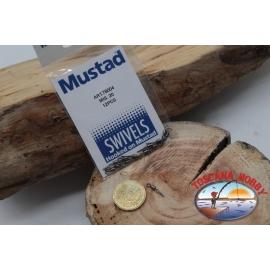 1 Packet of 12 pcs. of swivels Mustad series 78004 sz.20 FC.G118