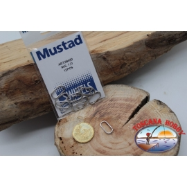 1 Packet of 12 pcs. of rings, treble hooks Mustad series 9943D sz.1/0 FC.G119