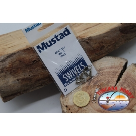 1 Packet of 4 pcs. of swivels hook Mustad series 77557 sz.2 FC.G131