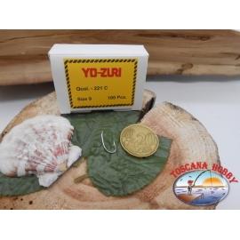 1 Confezione da 100pz ami Yo-zuri storti cod. 221C sz.9 FC.A217
