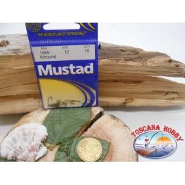 1 Packung mit 10st angelhaken Mustad cod. 1665 sz.12 mit öse FC.A226