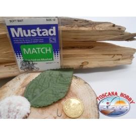1 Packung 25pz angelhaken Mustad cod. 496 sz.12 mit schaufel FC.A232