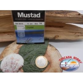 1 Paquete de 10 piezas Mustad-cod. 90316 sz.14 con el cabezal FC.A235