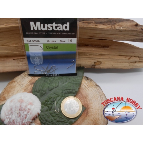 1 Pack of 10pcs Mustad cod. 90316 sz.14 with the headstock FC.A235