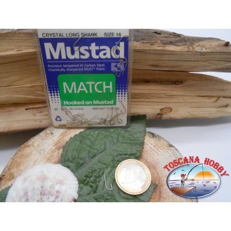 1 Packung 25pz angelhaken Mustad cod. 90316 sz.16 mit schaufel FC.A236