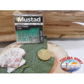 1 Packung mit 10 stk. angelhaken Mustad cod. 10650BLN sz.14 mit schaufel FC.A239