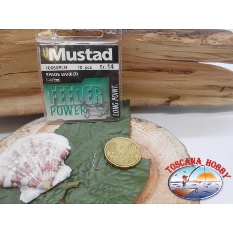 1 Pack de 10 uds Mustad-cod. 10650BLN sz.14 con el cabezal FC.A239