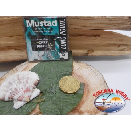 1 Pack of 10 pcs Mustad cod. LP340 sz.12 with the headstock FC.A242