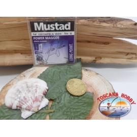 1 Confezione da 10 pz ami Mustad cod.10515NPBLN sz.16 con paletta FC.A244