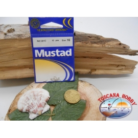 1 Pack of 10 pcs Mustad cod.221C sz.16 with headstock FC.A246