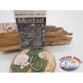 1 Pack de 3 pcs Mustad cod. 10884BLN sz.10/0 avec la couronne FC.A251