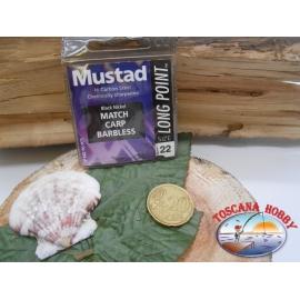 1 Paquete de 10 piezas Mustad-cod.LP140 sz.22 cabezal anzuelo FC.A252