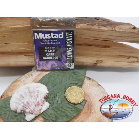 1 Paquete de 10 piezas Mustad-cod.LP140 sz.14 paleta de anzuelo sin FC.A254