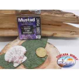 1 Pack 10pcs Mustad cod.LP140 sz.12 pallet barbless FC.A255