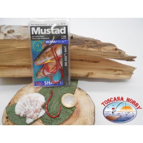1 Packung 5 stück angelhaken Mustad von trolling cod.92567NPBER sz.5/0 öse FC.A261