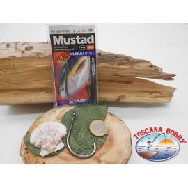 1 Packung 2stück angelhaken Mustad von trolling cod.10827NPBLN sz.12/0 öse FC.A262