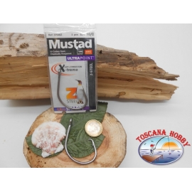 1 Pack 2pcs Mustad autoferranti cod.39948Z sz.10/0 crown FC.A263