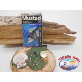 1 Pack 3pcs Mustad soft bait cod.91768KH sz.1/0 crown FC.A266