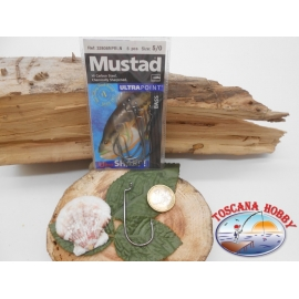 1 Pack 5 pcs Mustad cod.32808NPBLN sz.5/0 crown FC.A269