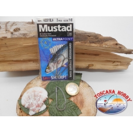 1 Paquete de 3pcs Mustad antincaglio cod.W3261BLN sz.1/0 FC.A271