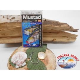 1 Pack de 5 uds Mustad autoferranti ojo de bacalao.39951BLN sz.5/0 FC.A273
