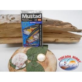 1 Pack de 5 uds Mustad autoferranti ojo de bacalao.39951BLN sz.4/0 FC.A274