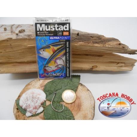 1 Pack 5 pcs Mustad autoferranti eye cod.39951BLN sz.4/0 FC.A274