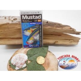 1 Pack de 25 pcs Mustad autoferranti œil de la morue.39951NPBLN sz.12 FC.A275