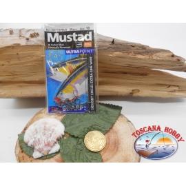 1 Pack 25 pcs Mustad autoferranti eye cod.39951NPBLN sz.10 FC.A277
