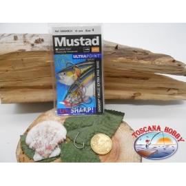 1 Paquete de 15 piezas Mustad autoferranti ojo de bacalao.39954BLN sz.4 FC.A278