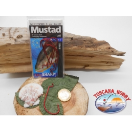 1 Pack 5 pcs Mustad red eye cod.37177NPBER sz.4/0 FC.A280 ratio