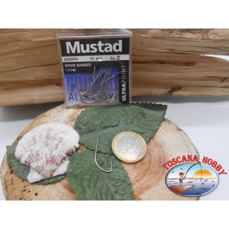 1 Pack of 10 pcs Mustad pallet cod.225NPN sz.2 FC.A281