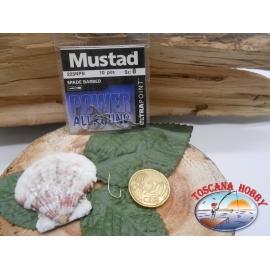 1 Packung mit 10 stk. angelhaken Mustad mit schaufel cod.225NPN sz.8 FC.A282