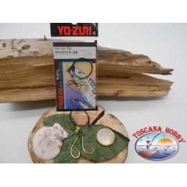 1 bustina da 2 ami Yo-zuri con cavetto(35cm)+attrattivo cod.C877 sz.17 FC.A290