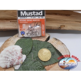 1 bustina da 10 pz ami Mustad cod.60200BLN sz.10 FC.A311