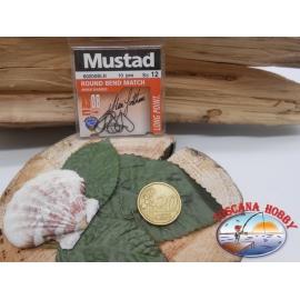 1 beutel mit 10 stk. angelhaken Mustad cod.60200BLN sz.12 CF.A312