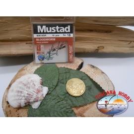1 beutel mit 10 stk. angelhaken Mustad cod.60015GR sz.18 FC.A319
