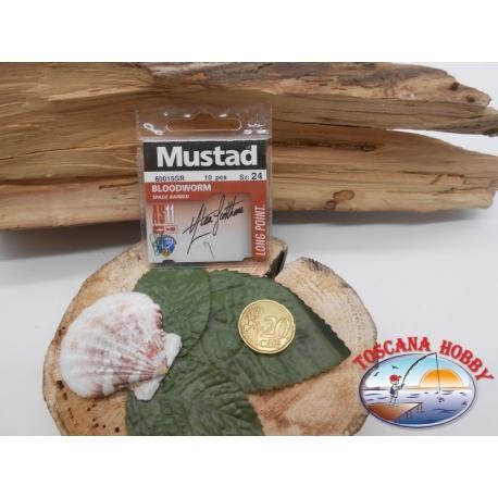 1 beutel mit 10 stk. angelhaken Mustad cod.60015GR sz.24 FC.A322