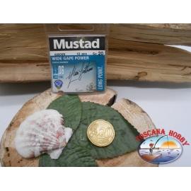 1 beutel mit 10 stk. angelhaken Mustad cod.60005N sz.20 FC.A325