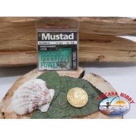 1 bustina da 10 pz ami Mustad cod.60126BLN sz.14 FC.A326
