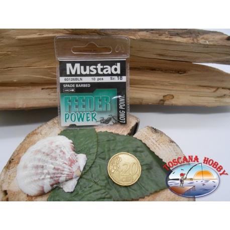 1 beutel mit 10 stk. angelhaken Mustad cod.60126BLN sz.18 FC.A327