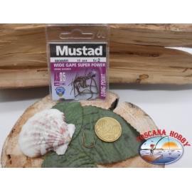 1 beutel mit 10 stk. angelhaken Mustad cod.60006BR sz.2 FC.A329