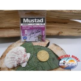 1 beutel mit 10 stk. angelhaken Mustad cod.60006BR sz.10 FC.A330